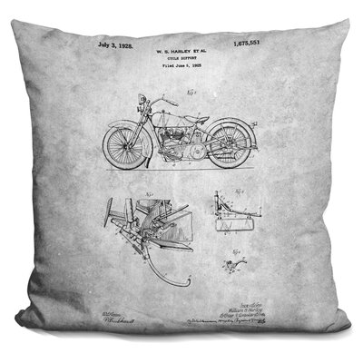 Chavez Motorcycle Print Throw Pillow