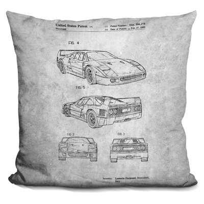 Chavira Ferrari Print Throw Pillow