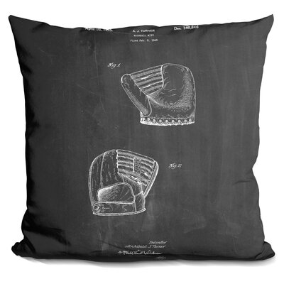 Cassella B Glove Throw Pillow Color: Black
