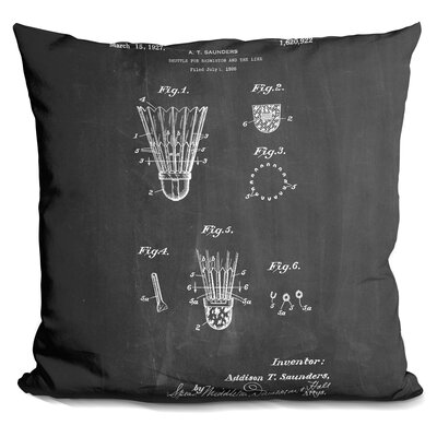 Cassette Badminton Shuttle Throw Pillow
