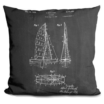 Charlie Sailboat Throw Pillow