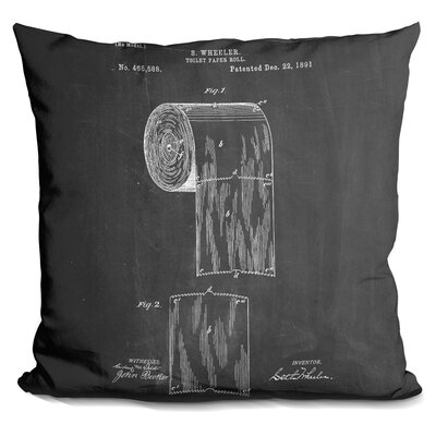 Charney Sanitary Paper Throw Pillow