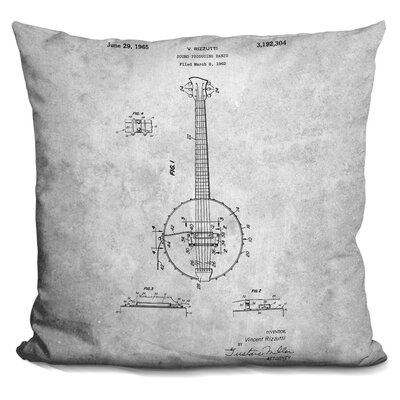 Canale Banjo Throw Pillow Color: Gray