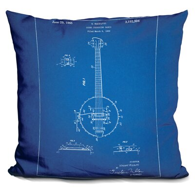 Canale Banjo Throw Pillow Color: Blue
