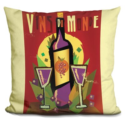 Vins Du Monde Throw Pillow