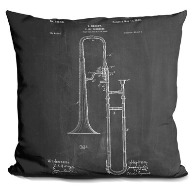 Charon Slide Trombone Throw Pillow