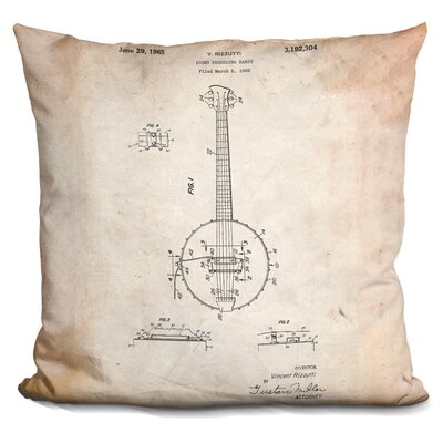 Canale Banjo Throw Pillow Color: Beige