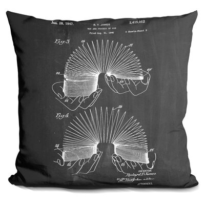 Ceasar Slinky Blueprint Throw Pillow Color: Black