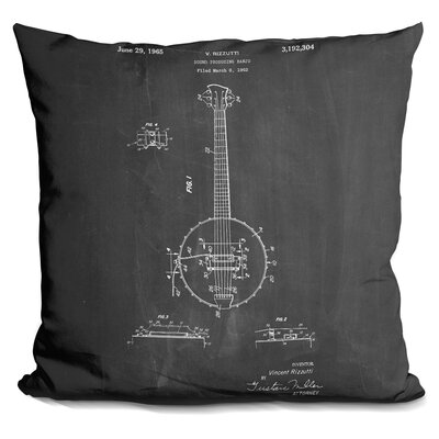 Canale Banjo Throw Pillow Color: Black