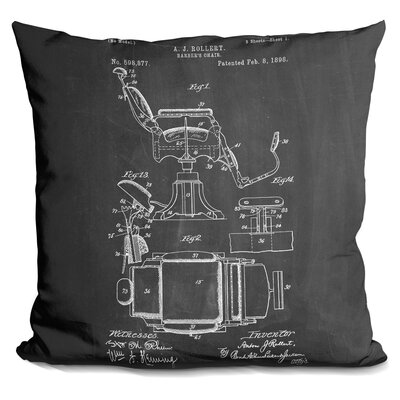 Castagna Barbers Chair Throw Pillow