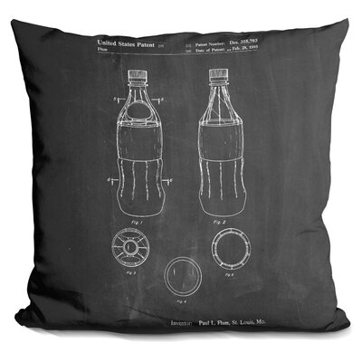 Charterhouse Soda Bottle Throw Pillow