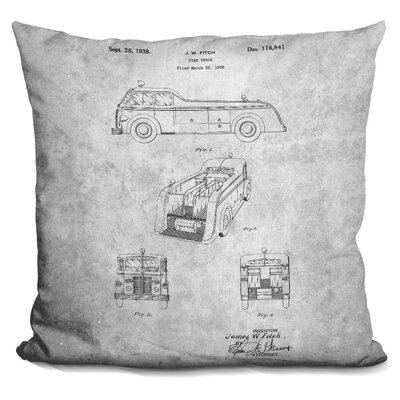 Cheesman Fire Truck Print Throw Pillow
