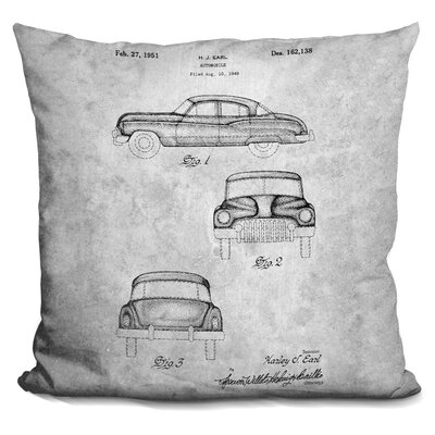 Chelvey Automobile Print Throw Pillow