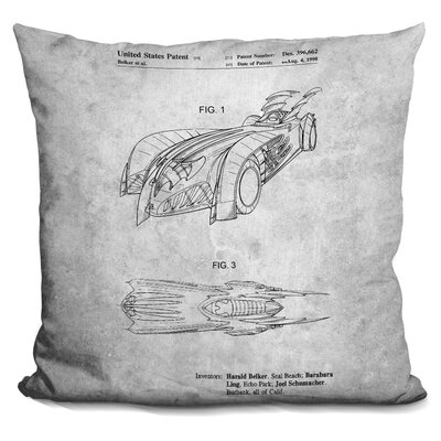 Chen Batmobile Print Throw Pillow