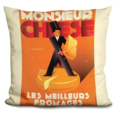 Monsieur Cheese Throw Pillow
