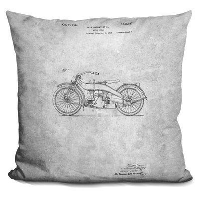 Chenard Harley Blueprint Throw Pillow