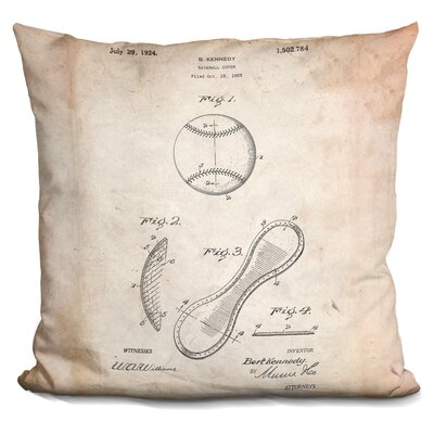 Camryn Baseball Cover A Throw Pillow Color: Beige