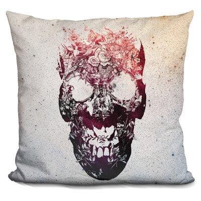 Catron Skull Sq Throw Pillow