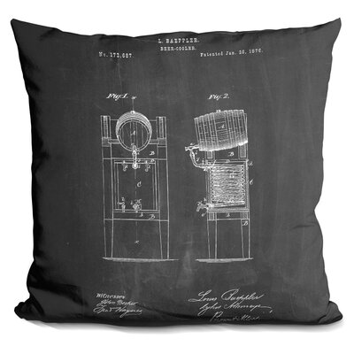 Castaneda Beer Cooler Throw Pillow Color: Black
