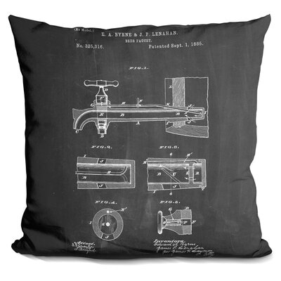Castanon Beer Tap Throw Pillow
