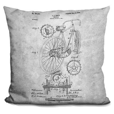 Canas Bicycle Throw Pillow Color: Gray