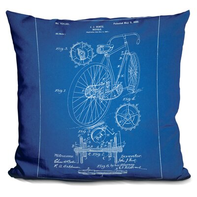 Canas Bicycle Throw Pillow Color: Blue