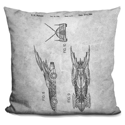 Chenier Batmobile Print Throw Pillow