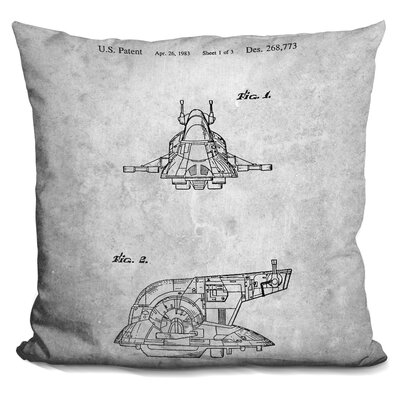 Star Wars Plane Blueprint Throw Pillow