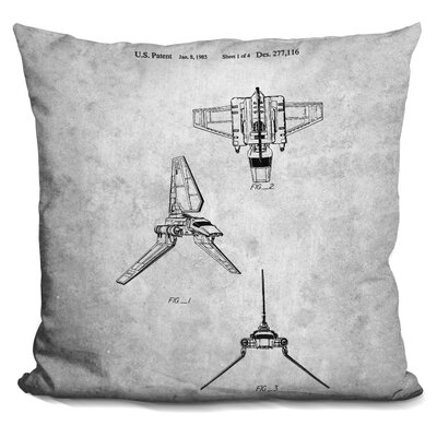 Star Wars Plane Blueprint I Throw Pillow