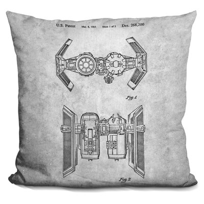 Star Wars Plane Blueprint II Throw Pillow