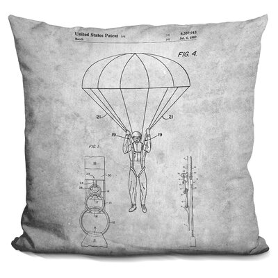 Chesnut Parachute Print Throw Pillow