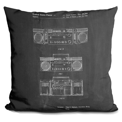Castellanos Boom Box Throw Pillow