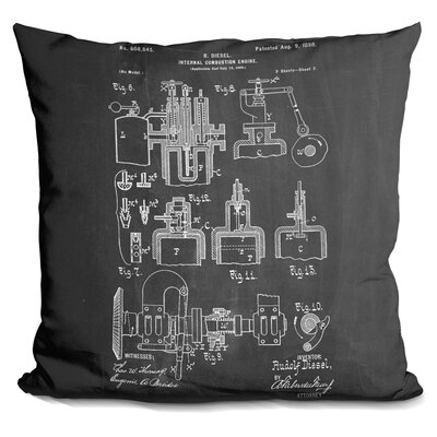 Castillo Diesel Motor Throw Pillow