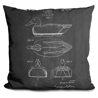 Cedillo Duck Decoy Print Throw Pillow Color: Black