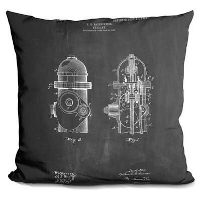 Castillon Fire Hydrant Throw Pillow