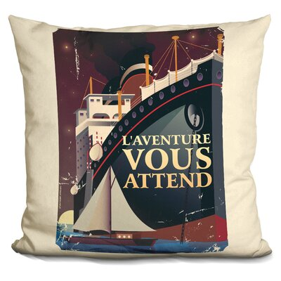 LAventure Vous Attend Throw Pillow