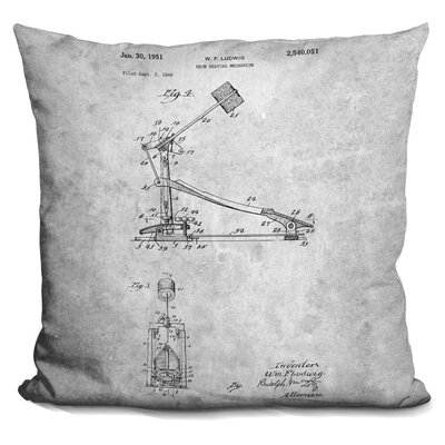 Chestertown Musical Instrument Print Throw Pillow