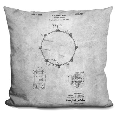 Cheung Drum Print Throw Pillow