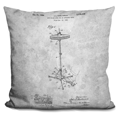 Chew Magna Cymbal Print Throw Pillow