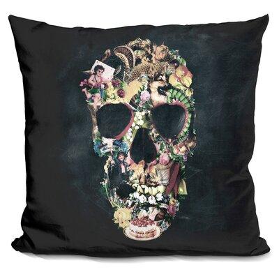 Vintage Skull Sq Throw Pillow