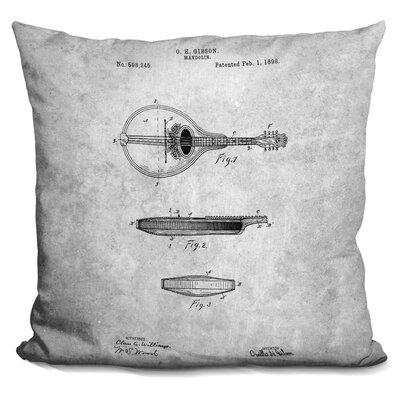 Cawley Mandolin Print Throw Pillow