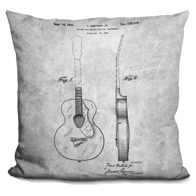 Camron Guitar Blueprint Throw Pillow