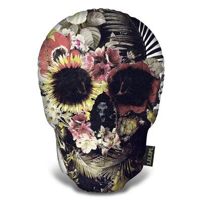 Garden Skull I Tee Throw Pillow