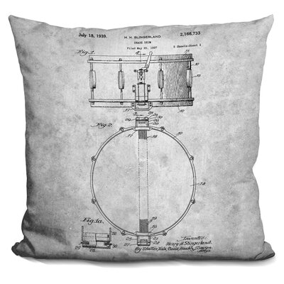 Cayton Drum Print Throw Pillow