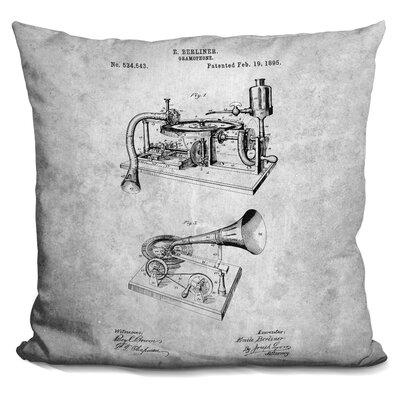 Cazares Gramophone Blueprint Throw Pillow