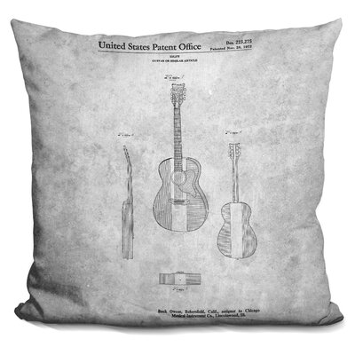 Camron Guitar Blueprint Throw Pillow