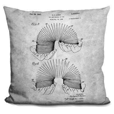 Ceasar Slinky Blueprint Throw Pillow Color: Gray