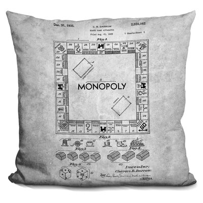 Ceballos Monopoly Print Throw Pillow