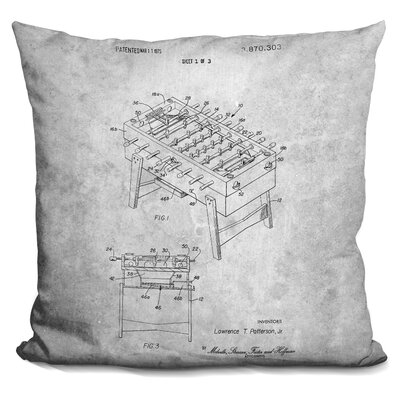 Cecere Table Soccer Blueprint Throw Pillow