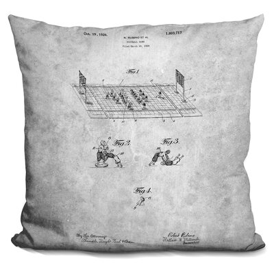 Football Print Throw Pillow
